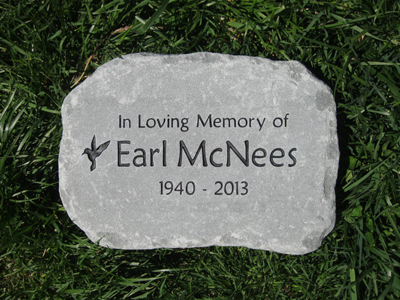 Garden Memorial Stones Custom Engraved Garden Stone by