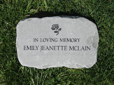 Custom engraved garden stone by adirondack stone works free shipping smedium garden stone workwithnaturefo