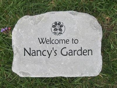 Personalized Garden Stones Custom Engraved Garden Stone By
