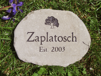 Engraved garden stones custom engraved garden stone by adirondack medium garden stone workwithnaturefo
