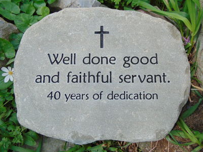 Personalized garden stones custom engraved garden stone by engraved garden stone workwithnaturefo