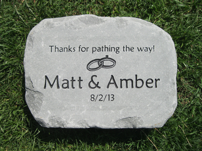 Wedding anniversary stones & gifts custom engraved garden stone by