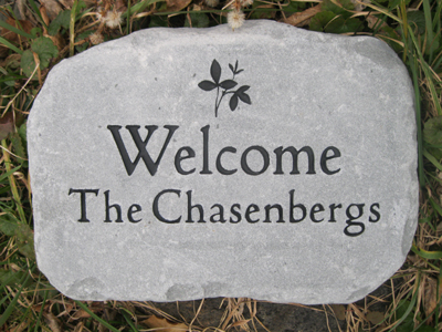 Custom engraved garden stone by adirondack stone works free shipping custom engraved stones previous next workwithnaturefo